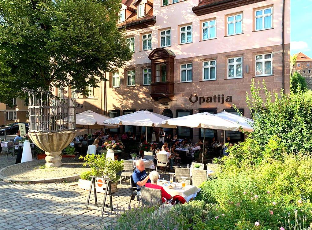 Terrasse Restaurant Opatija Max Kandel Unschlittplatz Nuernberg